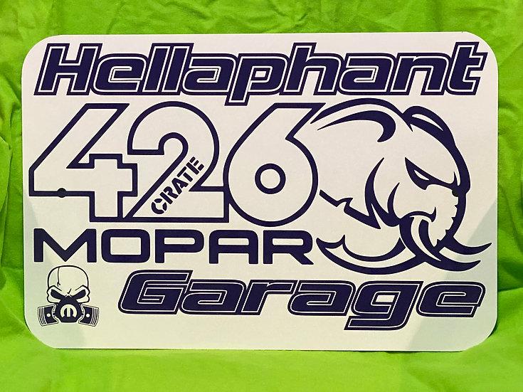 Hellaphant 426 Create Garage Sign