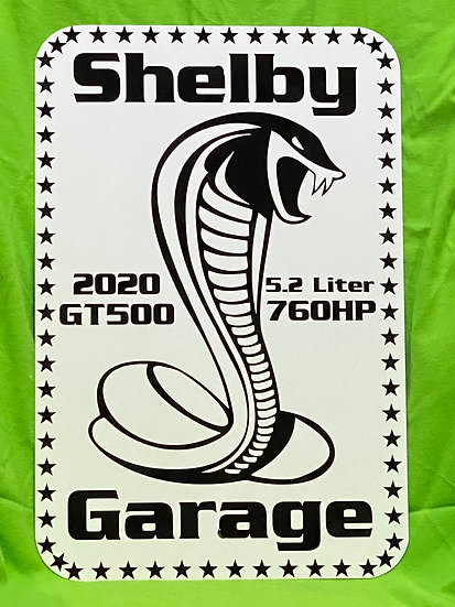 Shelby Garage Sign