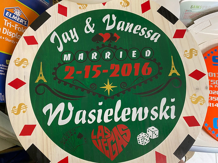 Custom wedding & anniversary signs