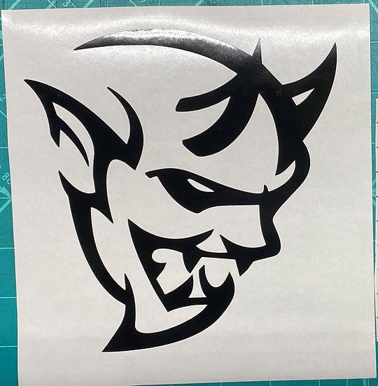 """Demon Vinyl Sticker 6"""" & 4"""""""