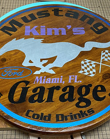 Personalized Car/Garage Signs