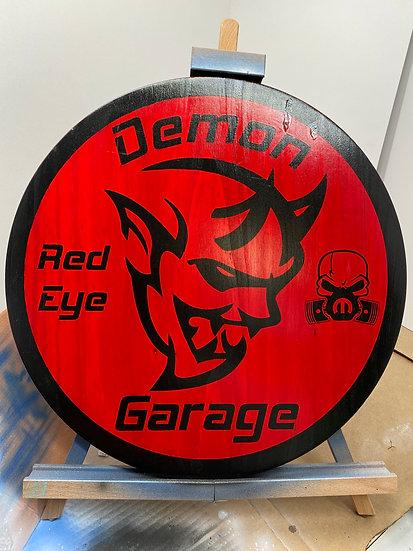 Demon Garage Sign