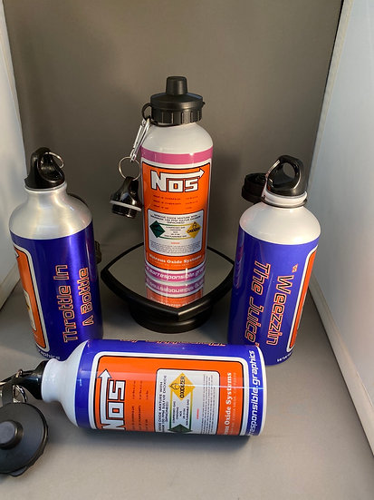 NOS aluminum 20oz water bottle
