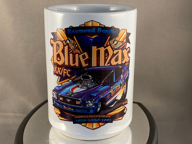 Blue Max Funny Car 15oz. Coffee Mug