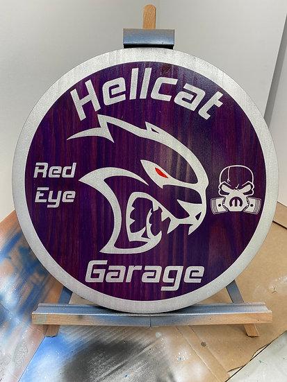 Hellcat Garage Sign