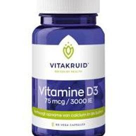 Vitamine D3 75mcg/3000IE 60 vegacaps