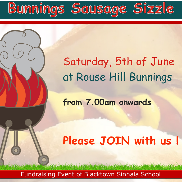 Sausage Sizzle - Fundraising Event - Jun 2021