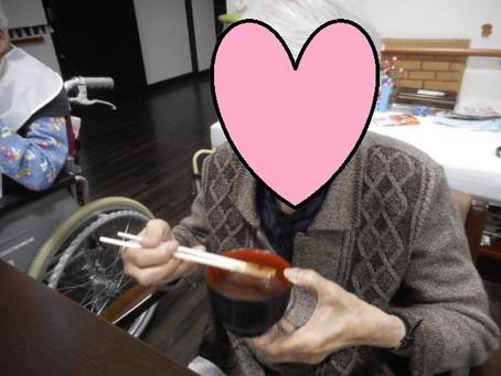 美味しいぜんざい召し上がれ!!~介護付有料老人ホーム麻姑の離宮西大寺~