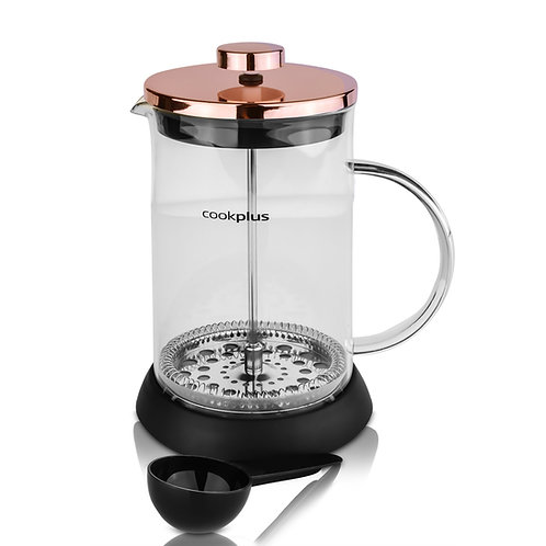 Cookplus Kaffebohne Bronze Stempelkanne 800 ml