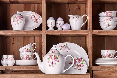 Porland Rosy Frühstücks Set - 6 Personen - 44 tlg