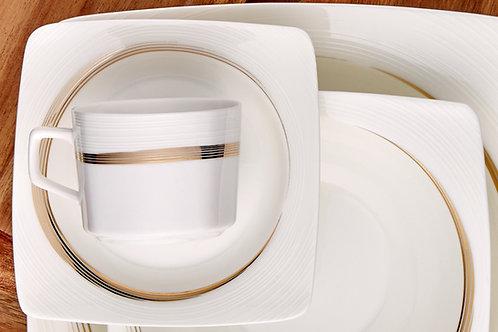 Porland Rüzgar Gold Tafelservice 12 Personen - 86 tlg