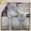 Thumbnail: Bad Set - 4 tlg - Farbe Silber