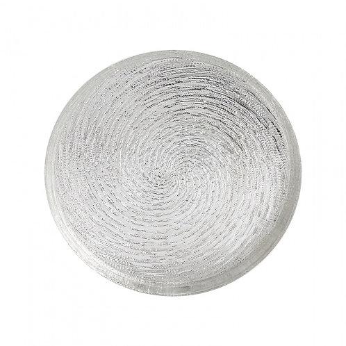Karaca Wilma Silber Glas Tablet 32 cm