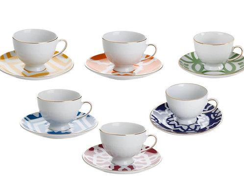 Porland Marocco Tee/Kaffeetassen groß - 6 Personen