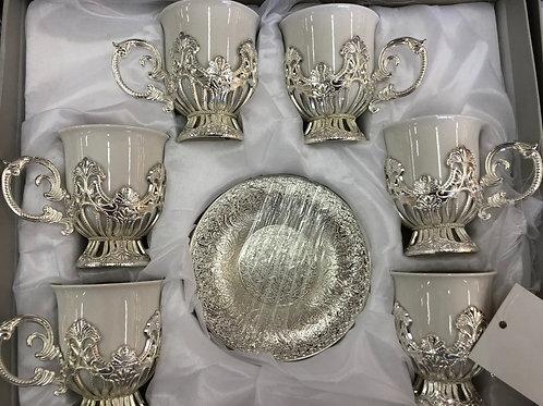 Tassen Set - Silber - 6 Personen