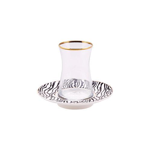 Karaca Zebra Tee-Set für 6 Personen