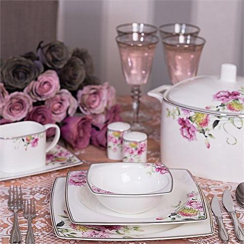 Tac Dinner Set Blumen - Tafelservice 12 Personen - 86tlg