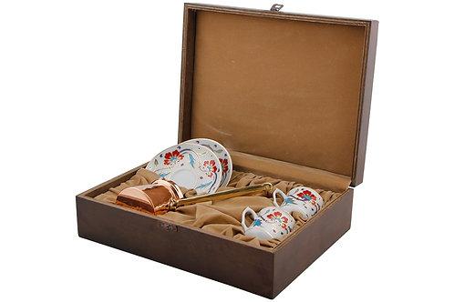 Porland Nevbahar Kaffee Set - 5tlg mit Koffer inkl. Cezve