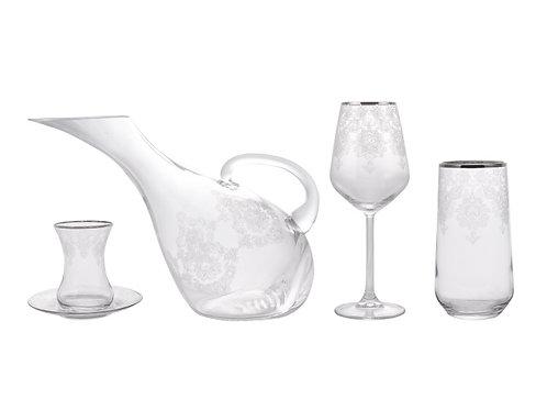 Karaca Helen 49tlg Glas Set für 12 Personen
