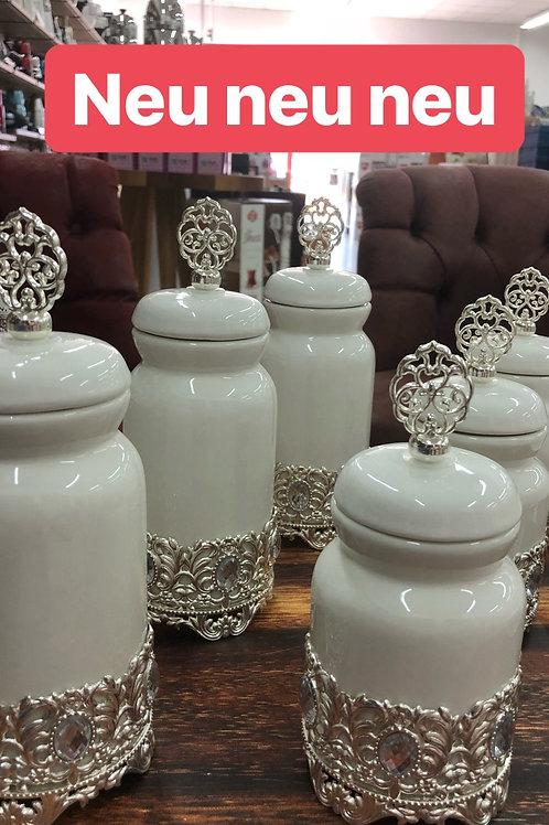 Aufbewahrungsset Porzellan - 6 tlg