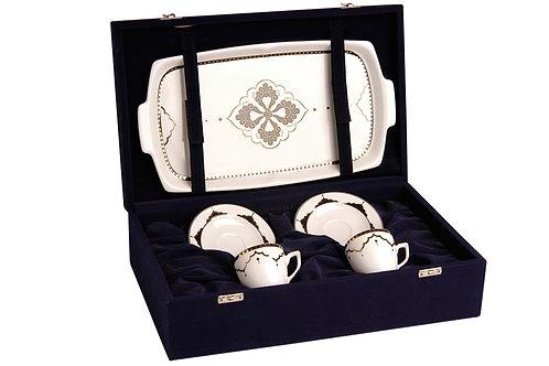 Porland Sehrazat Kaffee Set - 5tlg mit Koffer