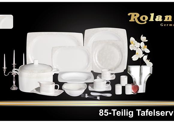 Roland Bone China Tafelservice- 12 Personen - 85 tlg
