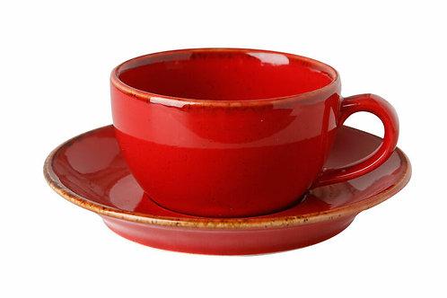 """Teetasse + Unterteller 207cc I Seasons """"Red"""""""