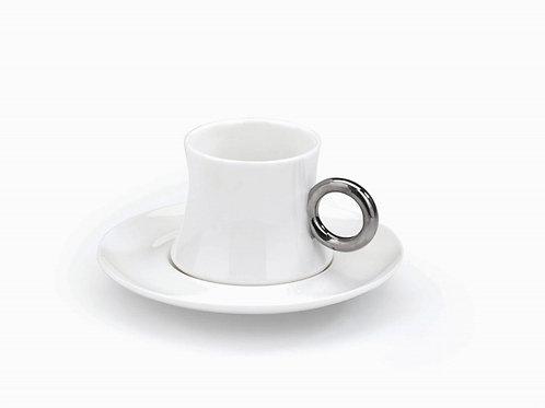 Korkmaz Mocca Set - 6 Person - Silber