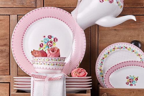 Porland Pink Lady Frühstücks Set - 6 Personen - 44 tlg