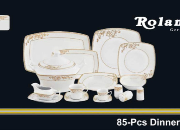 Roland 85 Tlg Tafelservice - Gold Design