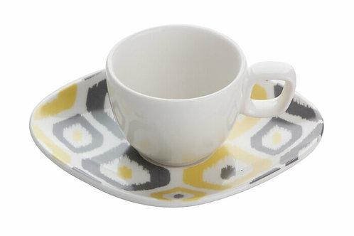Porland IKAT kleine Tassen - 6 Personen Set