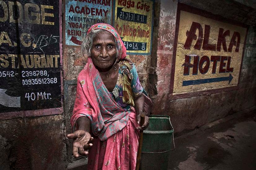 Beggar Lady - Varanasi