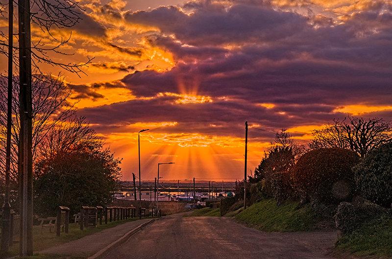 A Coast Road Sunset