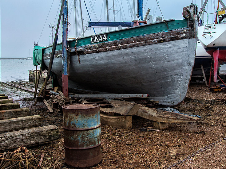 The Restoration of Fishing Smack Mayflower Begins