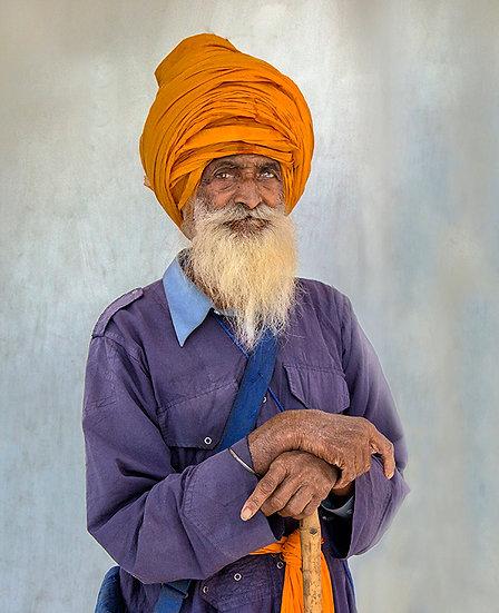 Man with Orange Turban - Delhi