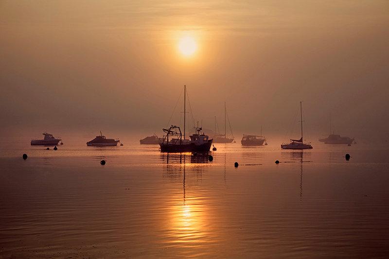 Misty Sunset - Shingle Point