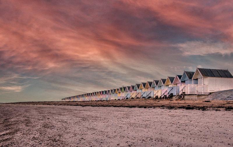 Pastel Sky & Beach Huts