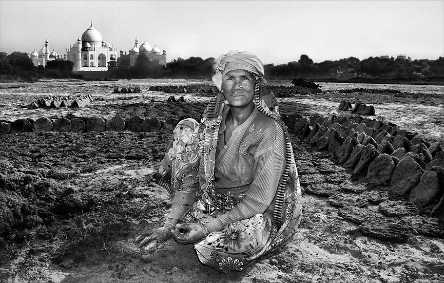 Cow Dung Worker - Agra