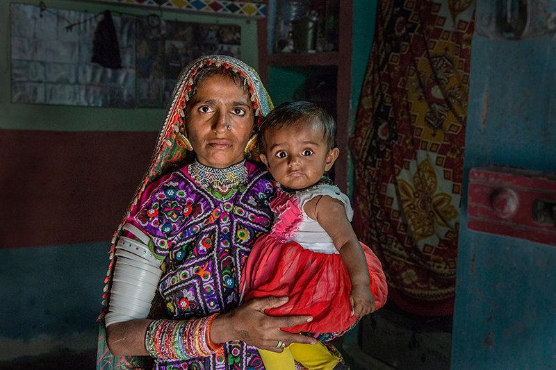 Mother and Baby -  Harijan Village, Kutch