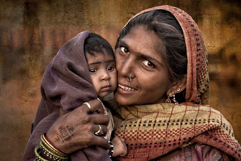 Mother and Baby - Pushkar