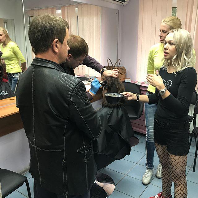 Семинар по колористике #белгород #курсы #парикмахерская #салонкрасоты #парикмахерскиекурсы #курсыман