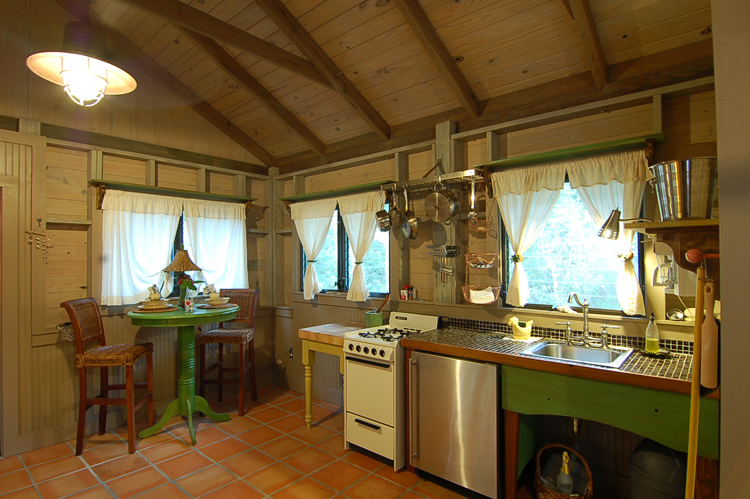 Each cottage has it's own kitchen.