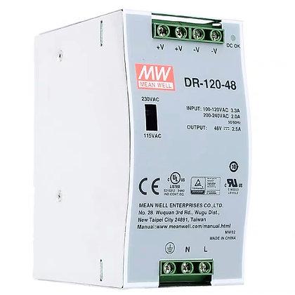DR-120-48 Импульсный источник питания MEAN WELL на DIN-рейку (48V-2.5A)