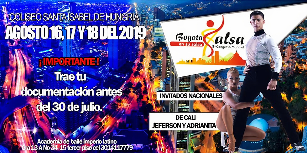 CANCELADO - Bogotá en su salsa 2019 - 9no Congreso Mundial