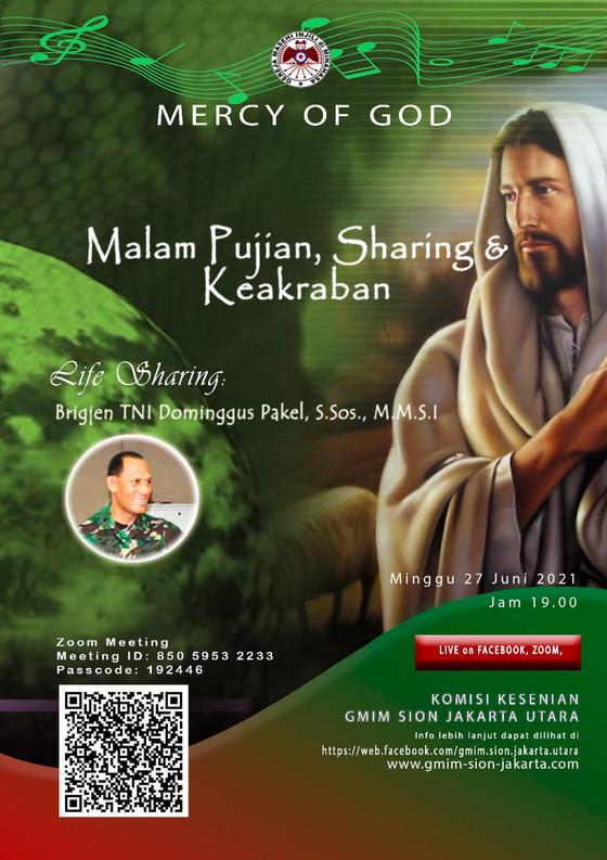 MERCY OF GOD : Malam Pujian, Sharing dan Keakraban