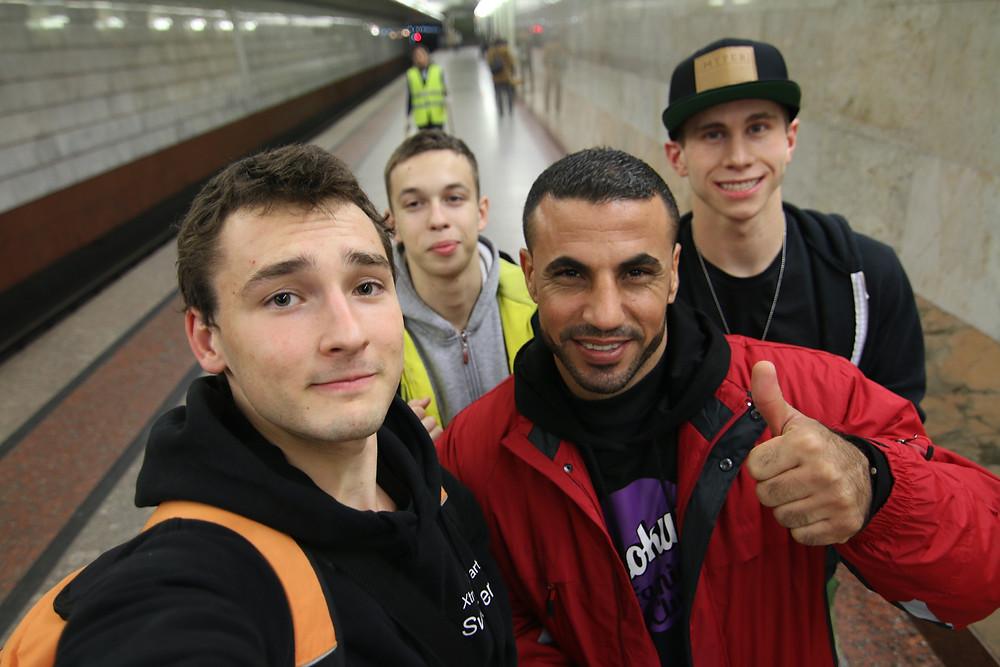De gauche à droite; Tanguy, Pavel, Saquer, John