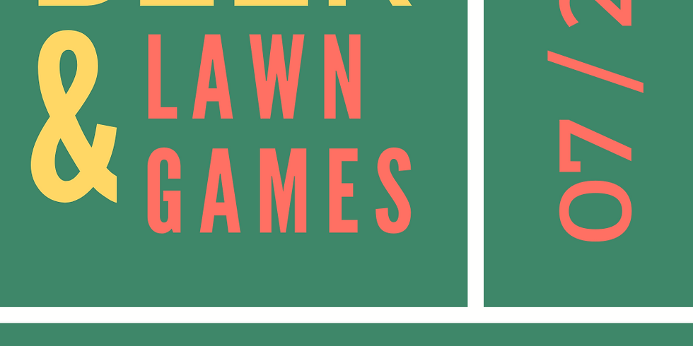 Beer & Lawn Games Fundraiser