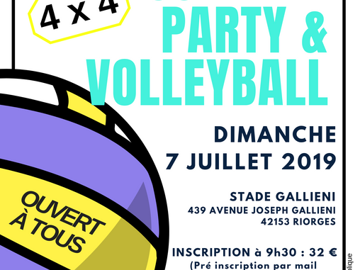 SUMMER PARTY & VOLLEYBALL du 2RVB : on compte sur VOUS !