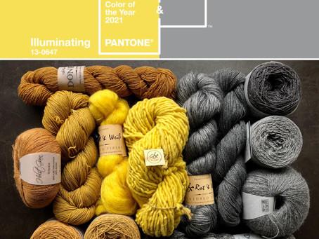 2021 Pantone的年度代表色,明亮黃與極致灰