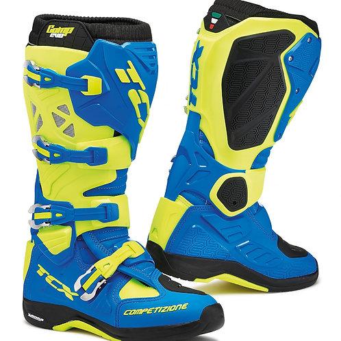 TCX Comp Evo Michelin Offroad Boots Blue/Yellow/Flu